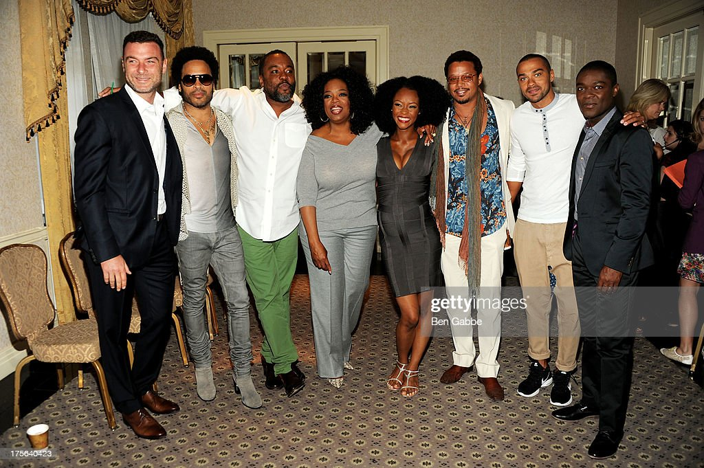 Liev Schreiber, Lenny Kravitz, Lee Daniels, Oprah Winfrey, Yaya Alafia, Terrence Howard, Jesse Williams and David Oyelowo attend the press conference for The Weinstein Company's LEE DANIELS' THE BUTLER at Waldorf Astoria Hotel on August 5, 2013 in New York City.