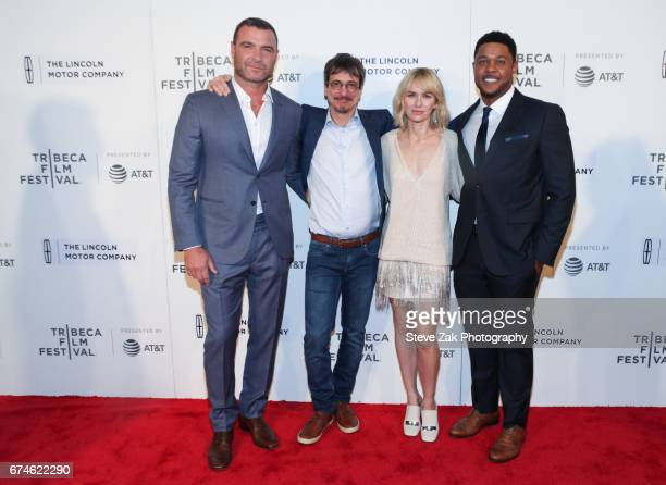 Liev Schreiber Philippe Falardeau Naomi Watts and Pooch Hall attend the screening of 'Chuck' during the 2017 Tribeca Film Festival at BMCC Tribeca...