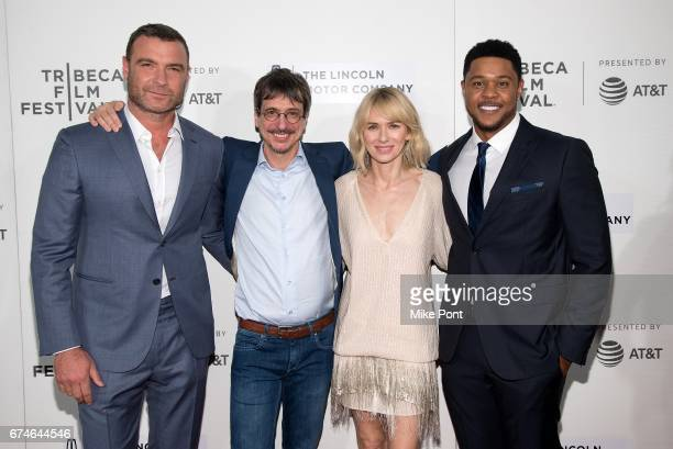 Liev Schreiber Philippe Falardeau Naomi Watts and Pooch Hall attend the 'Chuck' screening during the 2017 Tribeca Film Festival at BMCC Tribeca PAC...