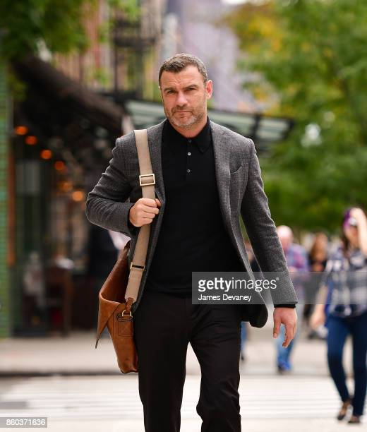 Liev Schreiber seen on the streets of Manhattan on October 11 2017 in New York City