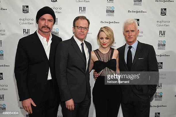Liev Schreiber Thomas McCarthy Rachel McAdams and John Slattery attend the 25th IFP Gotham Independent Film Awards cosponsored by FIJI Water at...