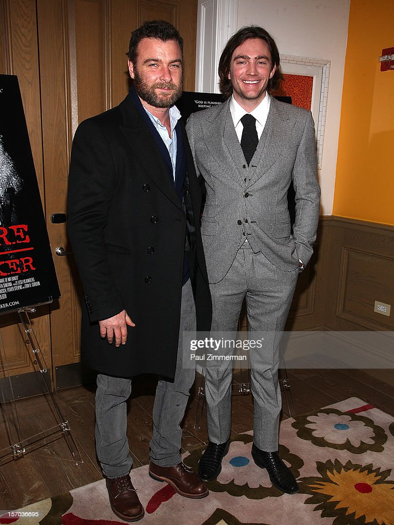 Liev Schrieber and dirctor/producer Jay Bulger attend 'Beware Of Mr. Baker' New York Screeningat Crosby Street Hotel on November 27, 2012 in New York City.