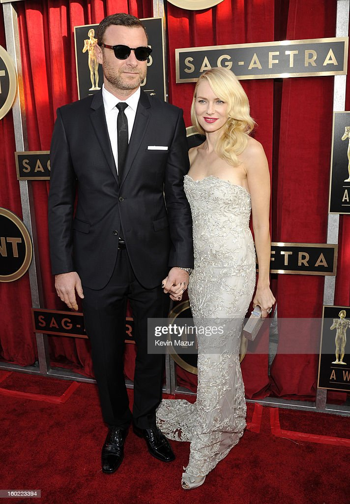 Liev Schrieber and Naomi Watts attend the 19th Annual Screen Actors Guild Awards at The Shrine Auditorium on January 27, 2013 in Los Angeles, California. (Photo by Kevin Mazur/WireImage) 23116_016_0255.jpg