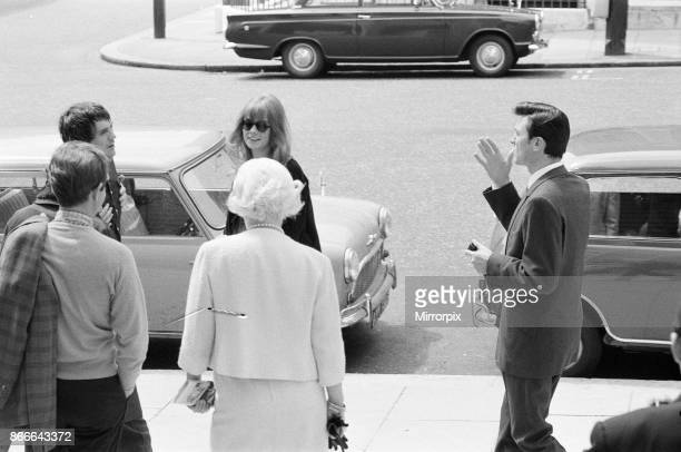 Life at the Top 1965 film on location filming around The Economist building in St James London SW1 Sunday 25th July 1965 The film stars Laurence...