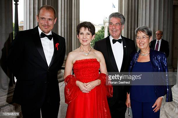 Life Ball founder Gery Keszler Presidents of the National Council of Austria Barbara Prammer Austrian President Heinz Fischer and his wife Margit...