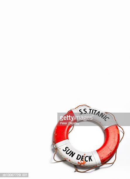 Life belt on white background
