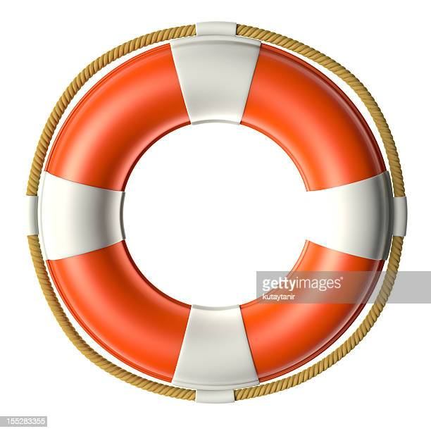 Life buoy isolated over white