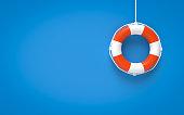 Life Belt, Life Buoy, Life Ring, Circle, Rope, Single Object