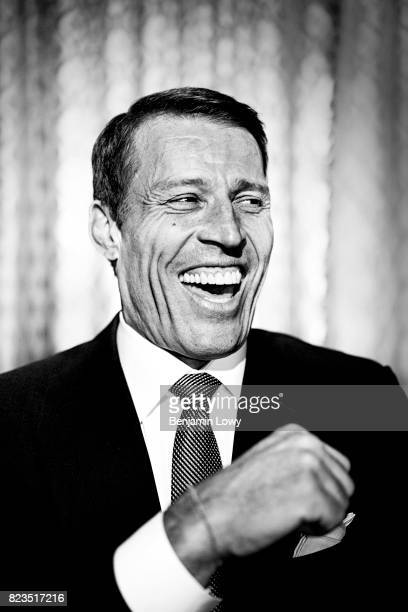 Life coach and business guru Tony Robbins is photographed for Money Magazine on March 17 at his home in Palm Beach Florida COVER