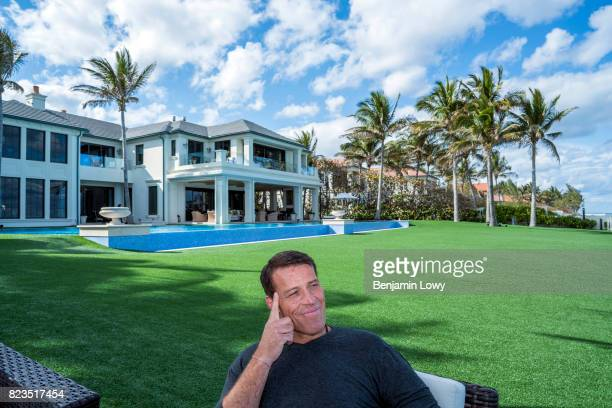 Life coach and business guru Tony Robbins is photographed for Money Magazine on March 17 at his home in Palm Beach Florida