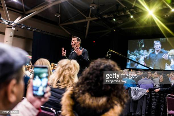 Life coach and business guru Tony Robbins is photographed for Money Magazine on March 17 at his home in Palm Beach Florida Robbins hosts a seminar on...