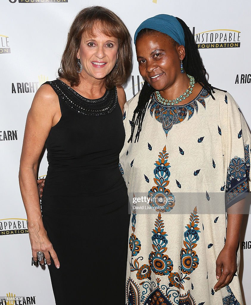 Life coach Connie Viveros (L) and Dr. Tererai Trent attend the 4th Annual Unstoppable Gala at the Beverly Wilshire Four Seasons Hotel on March 16, 2013 in Beverly Hills, California.