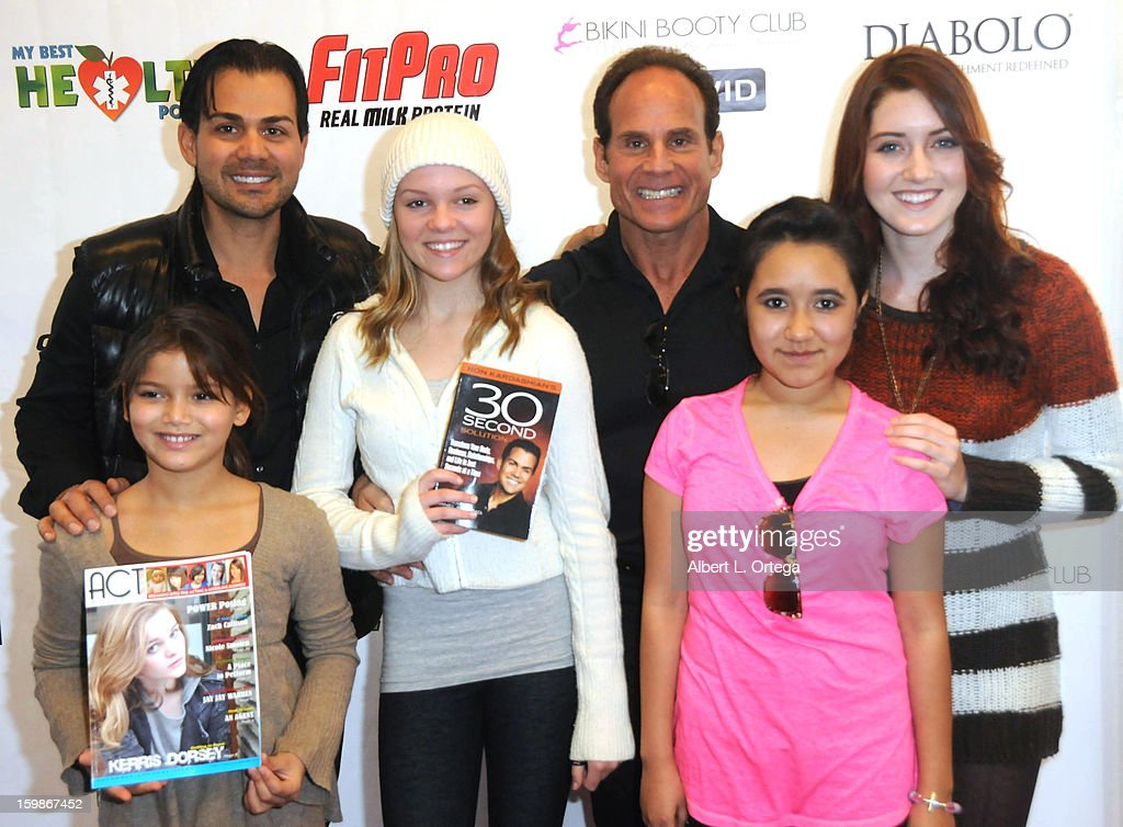 Life coach Ron Kardashian, fitness expert Mike Torchia, actress Anna East, actress Madison Marie, actress Alyssa Elle and actress Trinity Marquez participate in the Red Carpet Health Expo held at The Vitamin Shoppe on January 12, 2013 in Los Angeles, California.