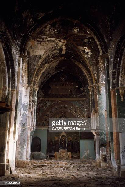 Life has returned to the ruins of Beirut reunited two months after the surrender of General Aoun 13 October 1990 Greek Orthodox Cathedral St Georges...