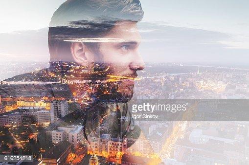 Vida na cidade grande : Foto de stock