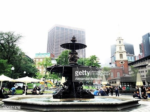 Life in the Boston Commons : Stock Photo