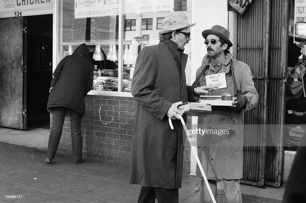 BLUES 'Life in the Minors' Episode 318 Pictured Bruce Weitz as Det Mick Belker Douglas Rowe as Blind con man