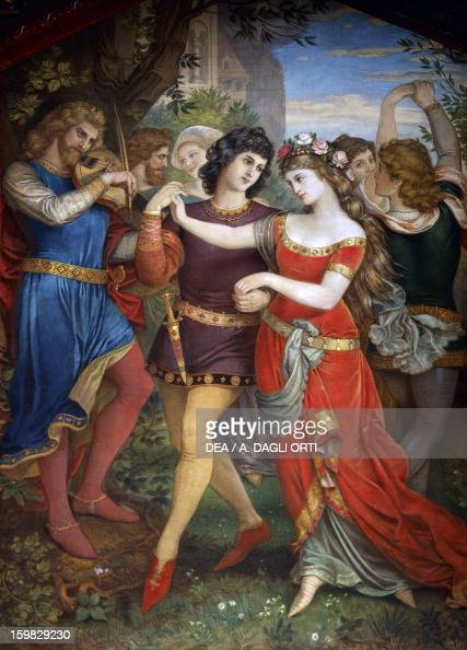 Life in the Wartburg castle in Thuringia at the time of the legendary minstrels under Ermanno I Landgrave of Thuringia from the Tannhauser legend...