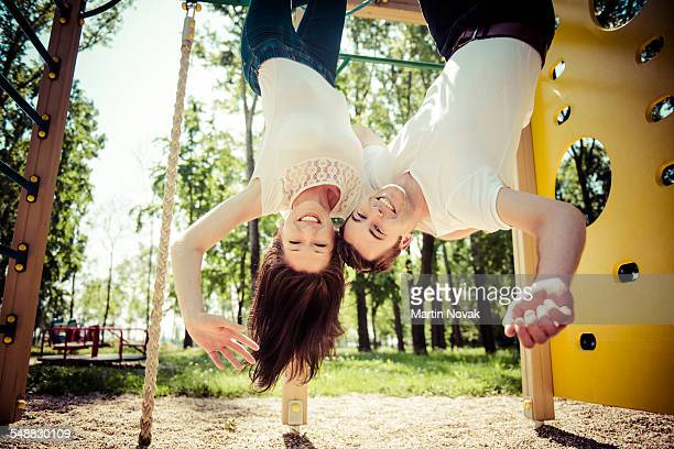 Life is fun together, young couple