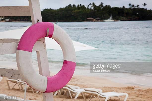 Life preserver, Minitas Beach, Casa de Campo Resort, La Romana, Dominican Republic