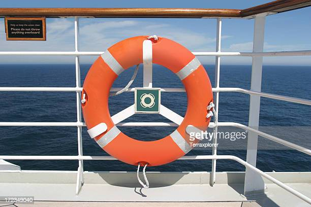 Life Preserver On Boat Deck