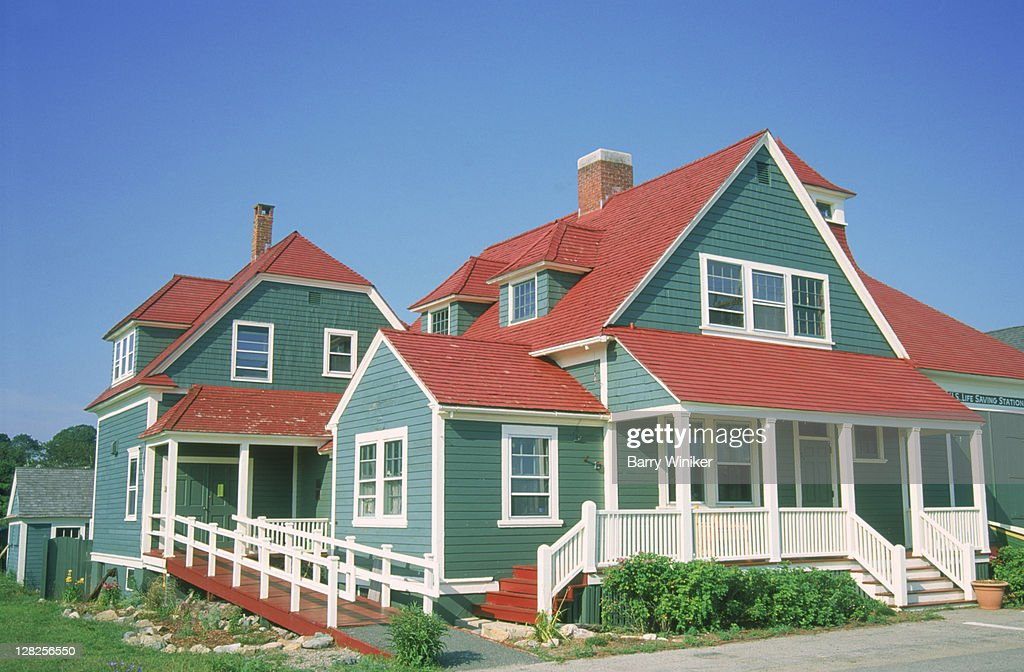 US Life Saving Station, South Shore : Stock Photo