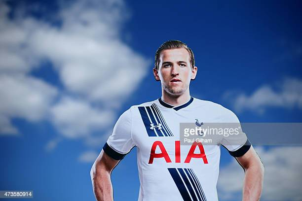A life size cut of Harry Kane of Spurs wearing the new home kit is seen ahead of the Barclays Premier League match between Tottenham Hotspur and Hull...