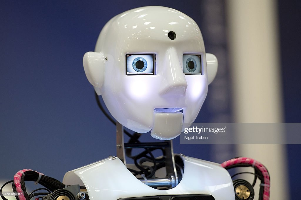 A life sized humanoid robot is pictured at the RoboThespian stand at the 2014 CeBIT technology Trade fair on March 12, 2014 in Hanover, Germany. CeBIT is the world's largest technology fair and this year's partner nation is Great Britain.