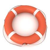 Lifebelt risk insurance concept