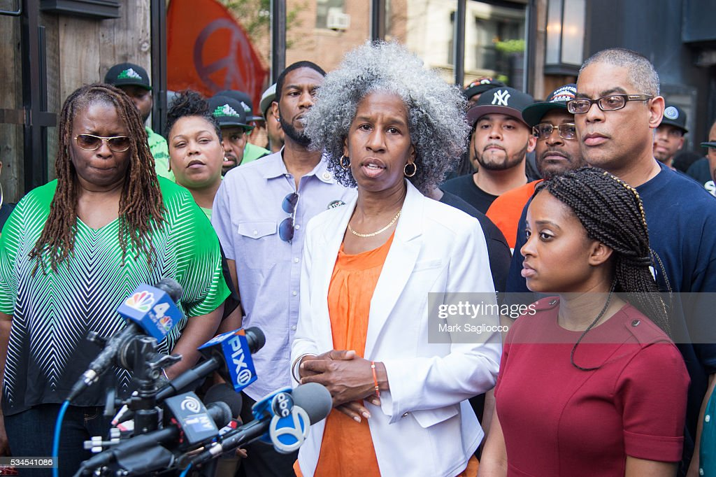 LifeCamp Anti-violence activist CEO Erica Ford attends the National Anti-Violence Community Press Conference at Irving Plaza on May 26, 2016 in New York City.
