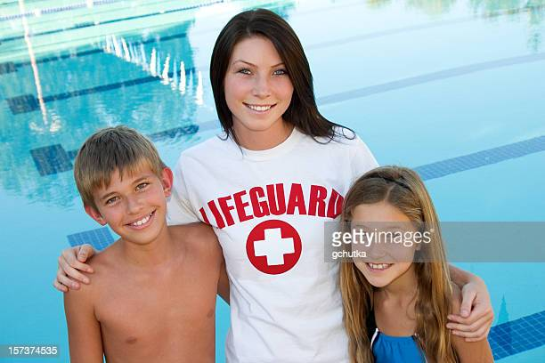 Lifeguard And Happy Kids