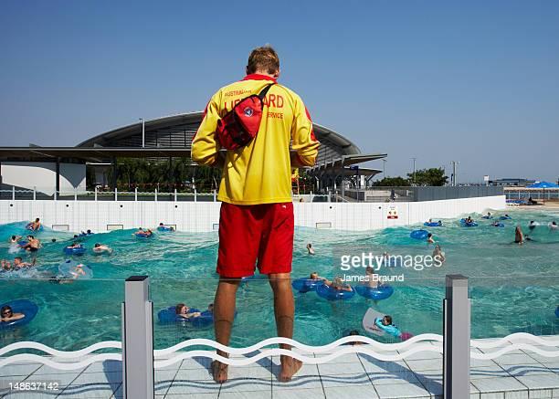 Lifeguard at Darwin Wave Pool.