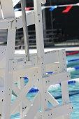 Lifeguard Chair at swimming pool.
