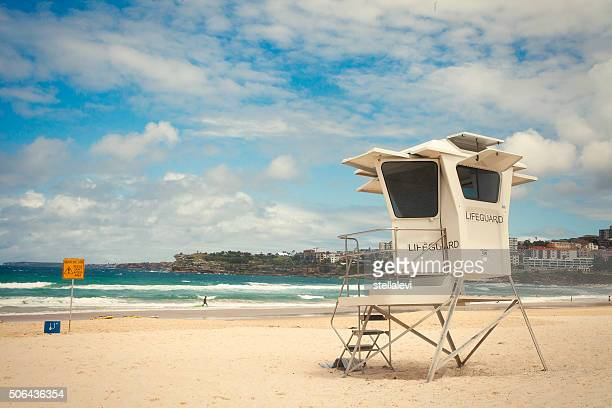 Lifeguard Hut in Bondi beach, Sydney