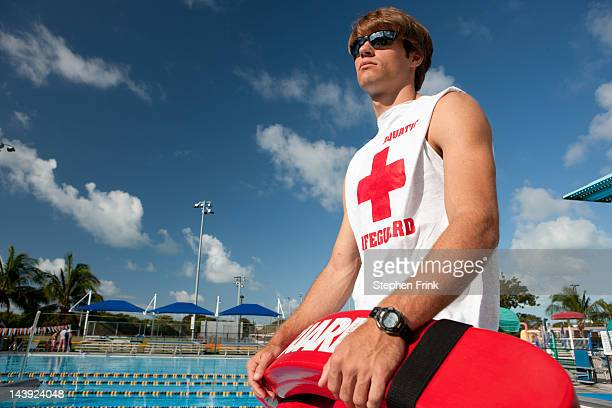 Lifeguard on Duty at Swimming Pool