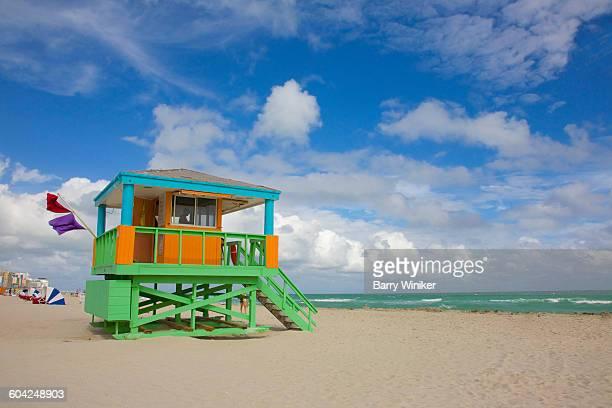 Lifeguard stand with porch & columns, Miami Beach