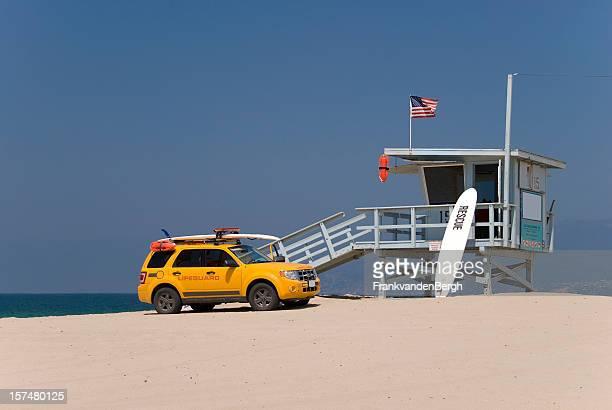 Lifeguard station and lifeguards car
