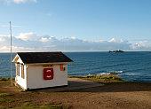 Lifeguard station Gwithian Cornwall UK