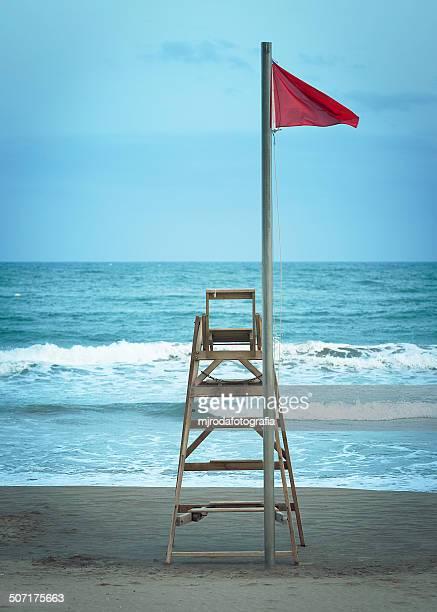 Lifeguard watchtower beach