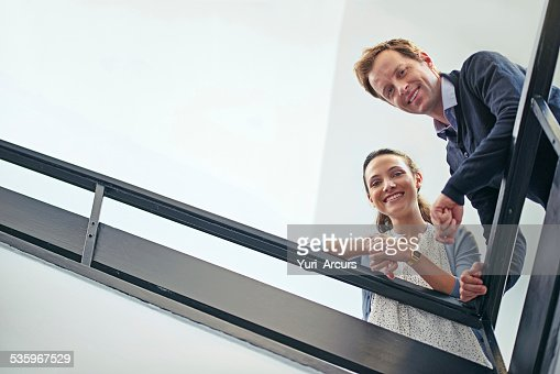 Life's more fun from way up here : Stock Photo