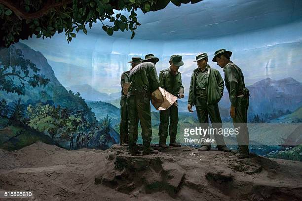 A lifesize reconstitution of phases of the antidrug 'Mohein Operation' led by Myanmar army through the 1970s and the 1980s is displayed at the Drug...