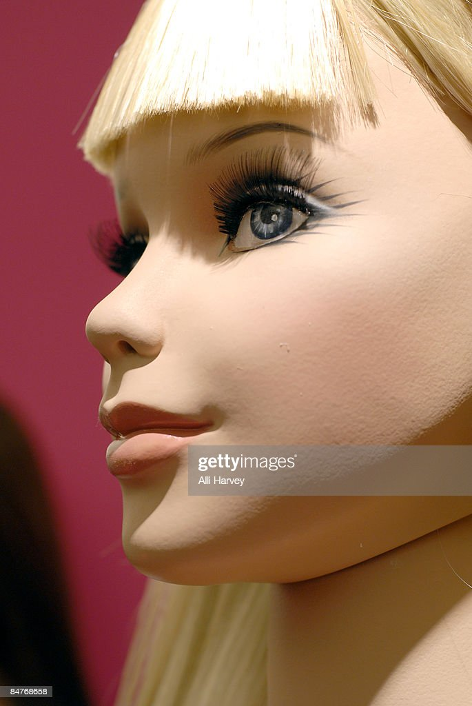 A lifesized Rootstein Barbie mannequin is displayed at Bloomingdale's 59th Street to celebrate Barbie's 50th anniversary on February 12 2009 in New...