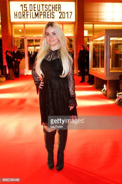 Lifestyle Blogger Nadine Trompka arrives at the Deutscher Hoerfilmpreis at Kino International on March 21 2017 in Berlin Germany