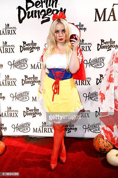 Lifestyle blogger Nadine Trompka attends the Halloween party by Natascha Ochsenknecht at Berlin Dungeon on October 27 2016 in Berlin Germany