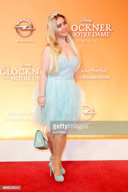 Lifestyle Blogger Nadine Trompka attends the premiere of the musical 'Der Gloeckner von Notre Dame' on April 9 2017 in Berlin Germany