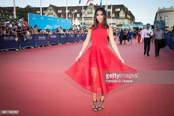Lifestyle blogger Sananas arrives at the 'Imperium' Premiere during the 42nd Deauville American Film Festival on September 9 2016 in Deauville France