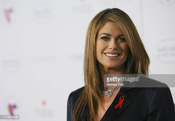 Lifestyle designer Kathy Ireland arrives at the 'Love Letters' theatrical debut to raise awareness for World Aids Day held in the Paramount Theatre...