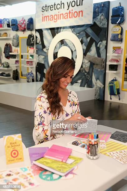 Lifestyle Expert Camila Alves checks out Target's DIY school supplies at a backtoschool event on August 13 2015 in New York City