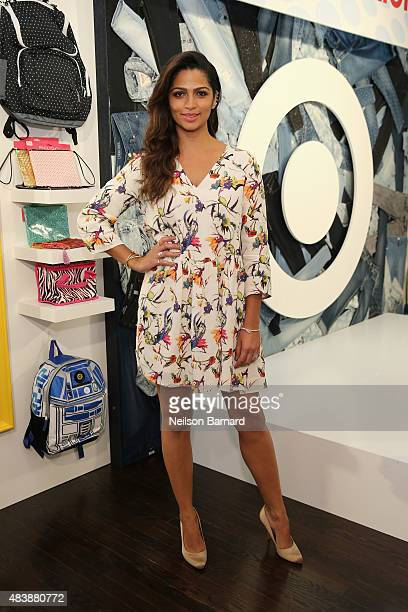 Lifestyle Expert Camila Alves gets ready to go back to school with Target at an event on August 13 2015 in New York City