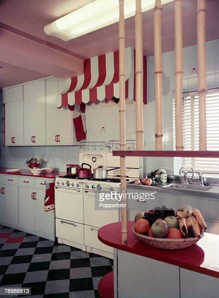 homedesign pic 1959 a large modern kitchen of the 1950s featuring a breakfast bar pictures getty images - 1959 Home Design